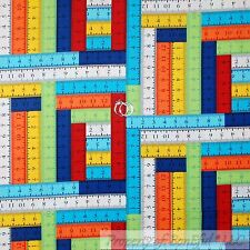 BonEful Fabric Cotton Quilt Rain*bow Color Tape Measure School Girl Scout SCRAP