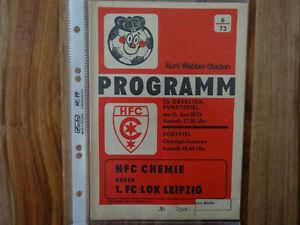 DDR Programm  HFC Chemie - Lok Leipzig  13.06.1973