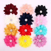 Pet Puppy Dog Cat Collar Accessories Rhinestone Flower Charms for Party Wedding