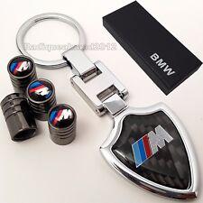 BMW M Sport Key Ring + Valve Dust Caps M3 M4 M5 M135i 1M Fob E92 E46 E36 F82