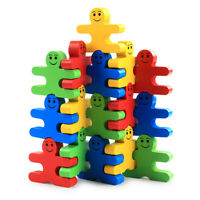 Wood Building Blocks Stacking Game Toys for Kids Children Toddlers U5E9