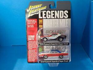 Johnny Lightning 2 pack Legends of the Quarter Mile 70 Plymouth superbird. 1/64