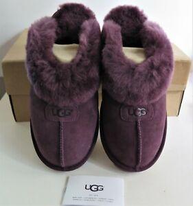NEW UGG W Coquette 5125 Slipper Mule Port (Purple) Size 10 Suede