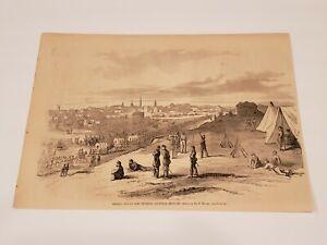 General Buell's Army Louisville Kentucky 1862 Civil War Harper's Weekly Engravin