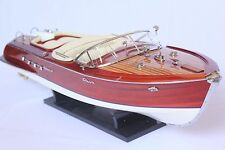 "RIVA AQUARAMA BOAT MODEL 21"" (53cm) - Wood Speed boat"
