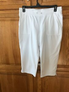 NWT WHITE STAG Pants Women/'s Size 6P Pleated Front Wrinkle resistant Plaid