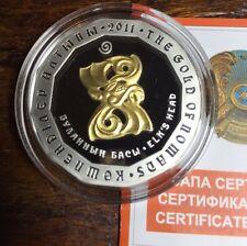 Kazakhstan 2011 500 Tenge Elk's Head Gold of Nomads Proof Silver Coin