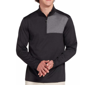 Walter Hagen Quarter Zip Golf Pullover Mens Small Authentic Lightweight Black