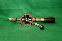 Antique Vintage Eggbeater Hand Drill Brace with (1) Bit Made in USA Inv#HC57