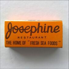Josephine Tropical Restaurant 1800 Roxas Blvd Pasay City Metro Matchbox (MX46)
