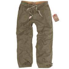Pantaloni da uomo Verde ampio in cotone
