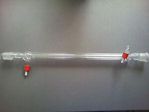 Liebigkühler 400mm NS 29/32 mit GL-Kunststoffoliven