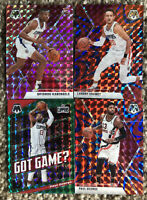 2020 Panini Mosaic Basketball Refractor Los Angeles Clippers(4) Card Lot+RC Card