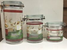 Fat Chefs Glass Storage Jars/Canisters - 3 - Mint