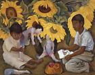 Diego Rivera Sunflowers Canvas Print 16 x 20   #8829