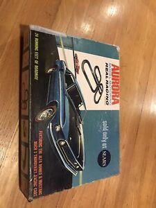 sears 69 mustang mach 1 thunderjet ho slot cars #1980 t-jet aurora racing set
