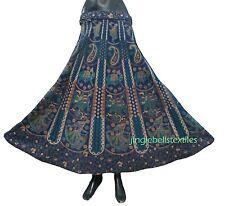 indian Wrap Around Women Rajasthani elephant Feather Cotton Long Skirt Rapron #%