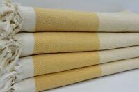 Pure Cotton Turkish Yellow Diamond Bedspread Blanket Throw