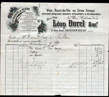 """MONDOUBLEAU (41) EPICERIE MERCERIE VINS """"HALLOUIN & VIVET / Léon DOREL"""" en 1907"""