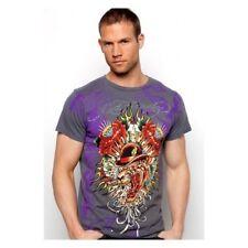 ED Hardy Mens Mum Cat T-Shirt Grey