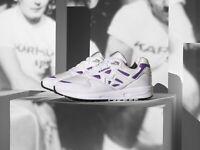 Karhu Legacy OG White Purple Leather UK 8 US 9 Finland Fusion Aria Synchron 2.0