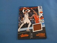 Absolute 17-18 Carmelo Anthony  Pass The Rock Game Used PR-CAN 56/99