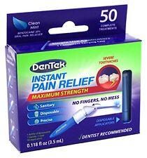 2 Paquet Dentek Adulte Instantané Soulagement Douleurs Kit Maximum Robuste 50 À