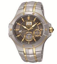 New Seiko SNP108 Two-Tone Kinetic Coutura Perpetual Calendar Men's Watch