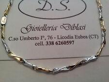 BELLISSIMA COLLANA  IN ORO BIANCO E GIALLO  (oro 18kt tit.750)