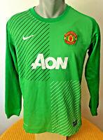 MANCHESTER UNITED Football Shirt 2013/14 GOALKEEPER Keeper MUFC Red Devils Home