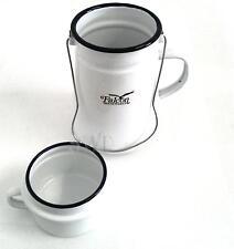Enamel Vintage Retro Look Billy Can Jug & Mug 20cm Tea Pot Carry Handle Camping