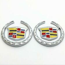 2X Cadillac 3D Emblem Badge Graphics Decal Car Sticker SRX ATS CTS XTS Free Ship