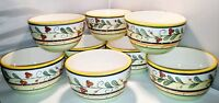 """Philippe Richard ITALIA BOWLS Set of 8  CEREAL BOWLS SOUP 6"""" hand crafted"""