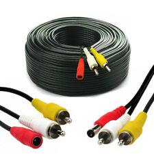 CCTV CAMERA RCA CABLE Phono Audio Video AV DC Power Extension Lead 2 x 50m /2PCS