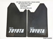 Use For Toyota 4wd 4x4 Off Road Mud Flaps Splash Guards Car Truck Black Rubber Fits Toyota