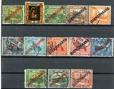 SAAR Official Issues of 1922 Set of 13 Used Scott's O1 to O9 & O12 to O15