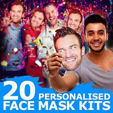 20 custom face Masken für Herrenabend Geburtstag ihm Party Spaß Jungs Ausgehen