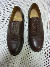 RAF/ARMY MENS BROWN LEATHER OFFICERS SHOES SIZE: 6M GENUINE ISSUE