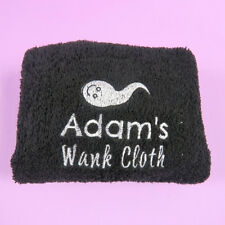 Rude gift Wank Cloth Wank Wipe Embroidered Flannel Gift for Men Funny Gift