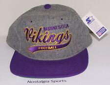 New ListingVintage 90s Minnesota VIKINGS STARTER SCRIPT Grey SnapBack HAT  NWT New Old Stock 1466415f227e