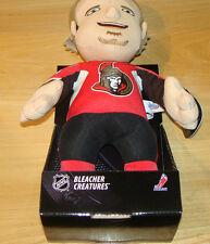"Ottawa Senators Bleacher Creatures Plush Doll Toy 14"" Inch Milan Michalek NHL"