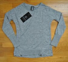 NWT Womens ACTIVE LIFE Heather Gray Light Weight Fitness Sweater Shirt S Small