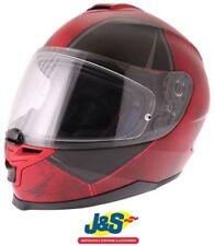 HJC Is-17 Deadpool Motorcycle Helmet Motorbike Marvel Wade Wilson Red Medium 58