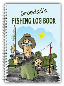 A5 FISHING LOG BOOK/ DAILY FISHING DIARY/ A5 PERSONALISED FISHERMAN'S GIFT/10
