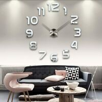 new clock watch wall clocks horloge 3d diy acrylic mirror Stickers Home