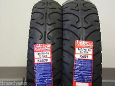 """TWO TIRE SET MOTORCYCLE TIRES 130/90-16 FRONT 140/90-16 REAR  K657  16"""" 16"""""""