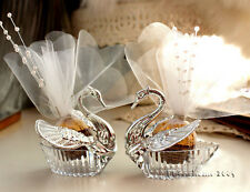 24Pcs Swan Wedding Favor Boxes/Gift Creative Selfdom Bomboniere Candy Boxes NEW