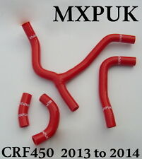 CRF450 2014 RED SILICONE HOSE KIT 2014 CRF 450R MXPUK HOSES Y KIT CRF450R (427)