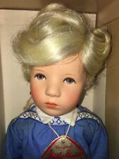 "Kathe Kruse ""Jorgel 35H"" 14.5"" Cloth Body Doll w/Human Hair Wig, Made in Germany"