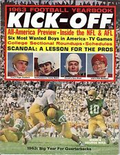 1963 Kick-Off Football Yearbook magazine,George MIra, Miami,Roger Staubach, Navy